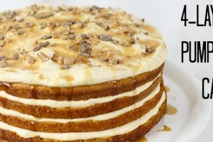 4 layer pumpkin cake