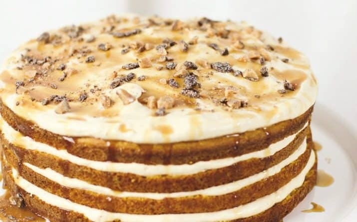 Amazing 4-Layer Pumpkin Cake with Pumpkin Cream Recipe