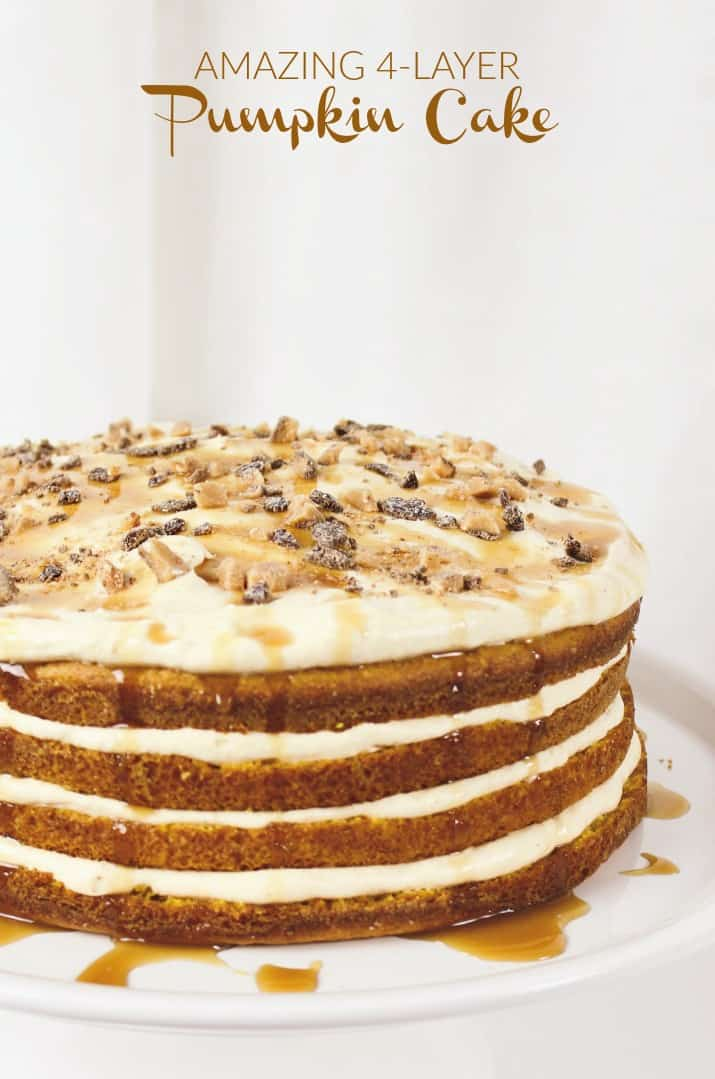 4 layer pumpkin cream layer cake