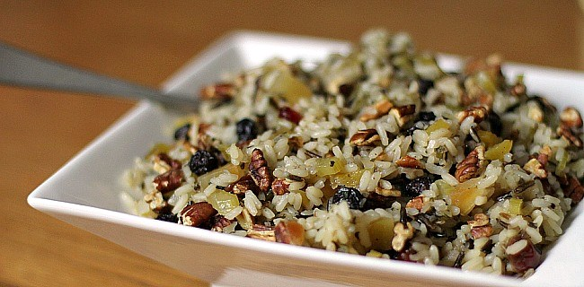 A great side dish for holidays or any entertaining at home - fruit nut wild rice. Get the recipe here.