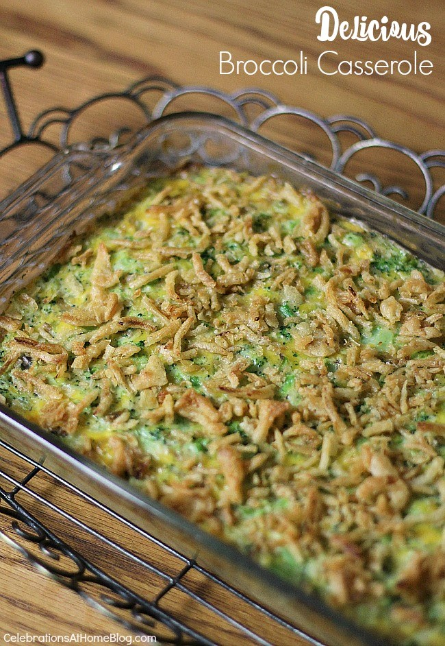 Make this delicious broccoli casserole for any family dinner or holiday meal. It will soon become a favorite side dish!