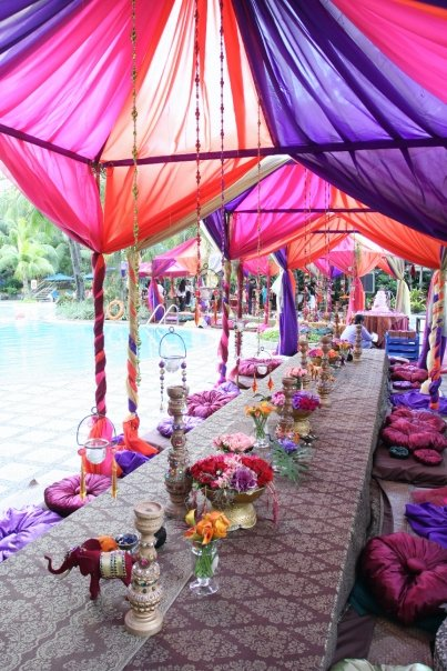 Exotic themed party celebrations at home for Terrace party decoration ideas