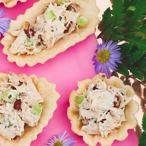 honey chicken salad cups recipe