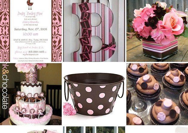 Pink & Brown Shower Inspiration