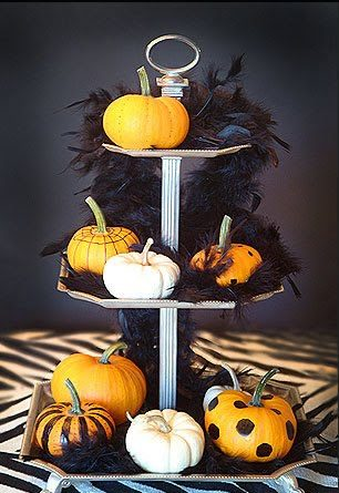 Tiered Pumpkin Centerpiece
