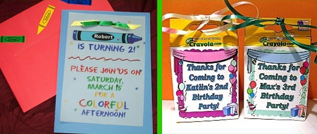 A Colorful Crayola Birthday Party Celebrations At Home