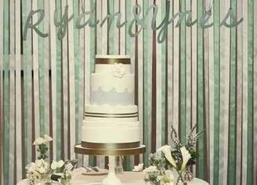 Trend Alert: Hanging Ribbon Backdrop