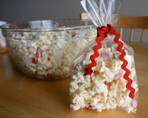 White Chocolate Popcorn Treats