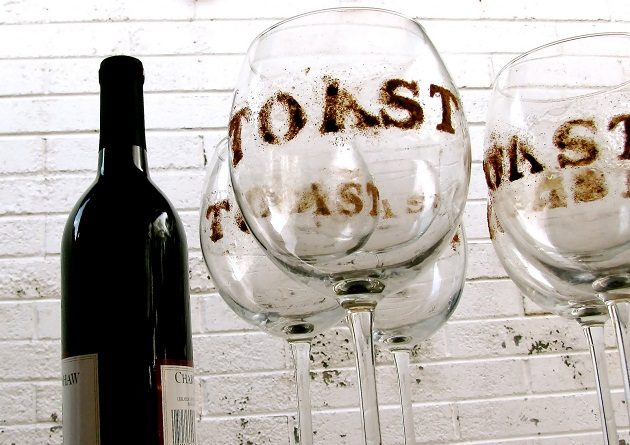 I'll Drink To That! {Glass Stenciling}