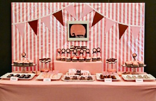 Pink Elephant Dessert Table by Clau! {guest feature}