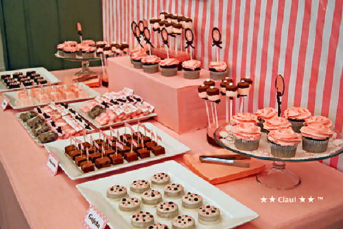 pink elephant dessert table by clau guest feature celebrations at