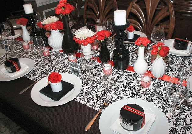 A Farewell Dinner Party {Black, White & Red}