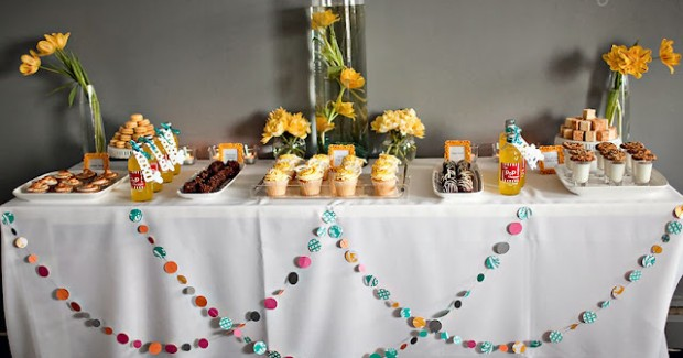 Yellow & Teal Bridal Shower Ideas {guest feature}