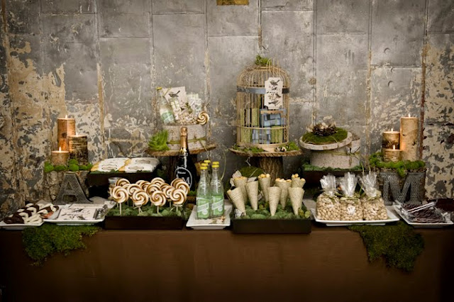 weddings party bridal shower modern table