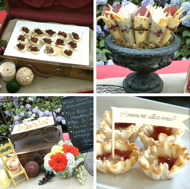 French themed party food food for French inspired party food