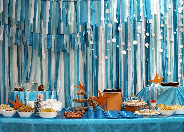 Under the sea birthday party guest feature for Sea decorations for home