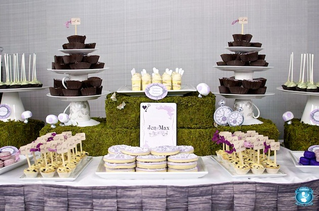 'Alice In Wonderland' Inspired Dessert Table