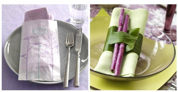 6 Napkin Wrap Up Ideas for your Tabletop