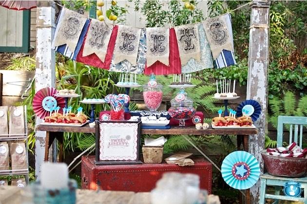 Vintage americana themed party celebrations at home - Decoracion retro americana ...