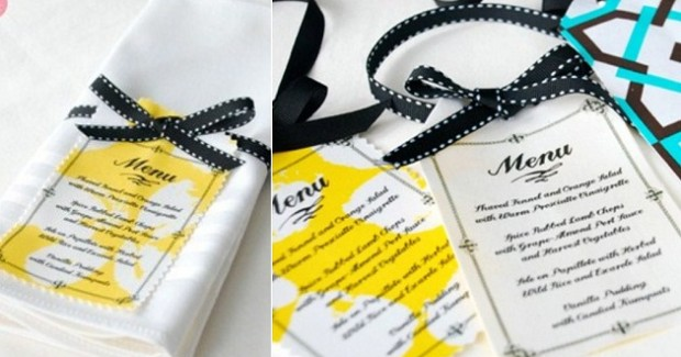 EZ DIY Projects {Favors & Menus}