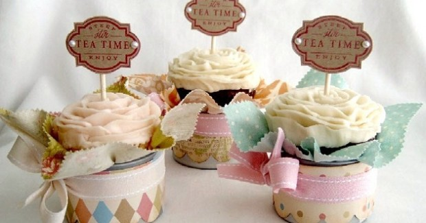 Shabby Chic Cupcake Display
