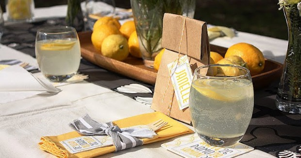 Lemon Yellow Birthday Picnic {guest feature}