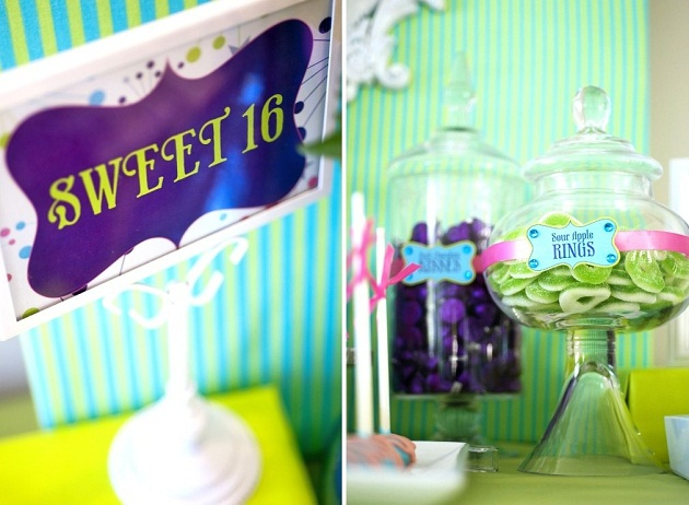 Sweet 16 birthday party with 'Reaching for the Stars' theme