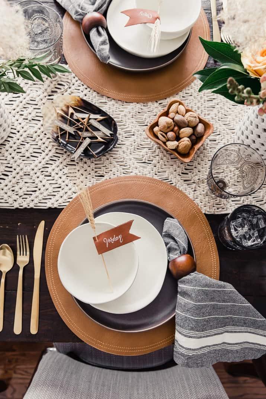 beautiful Thanksgiving table setting