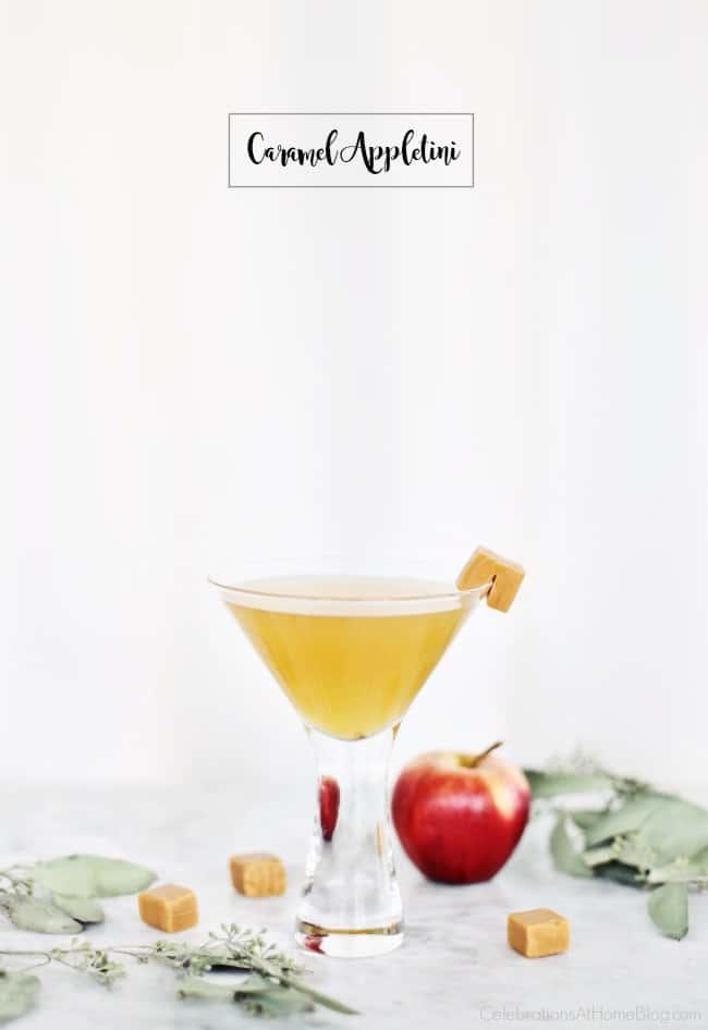 Autumn Cocktails Caramel Appletini recipe