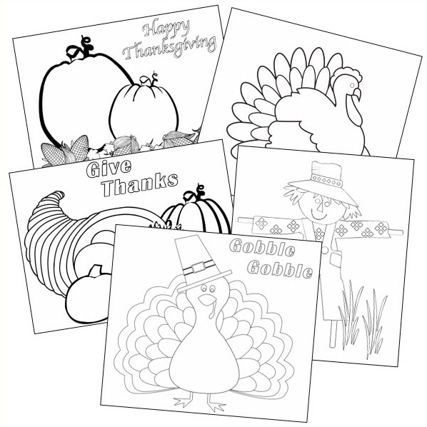 easy thanksgiving coloring pages printables - photo#36
