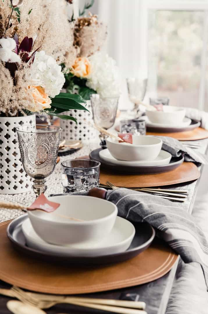 Thanksgiving tablescape for fall