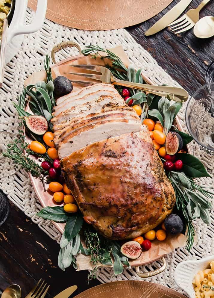 Thanksgiving turkey on platter