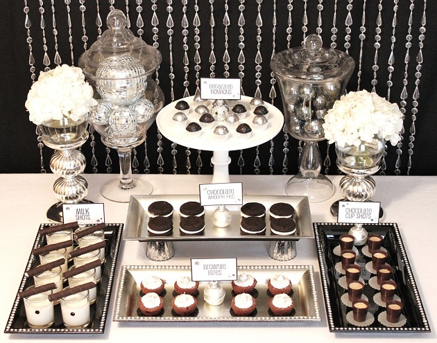Black amp White Glamorous Sweets Table Celebrations At Home