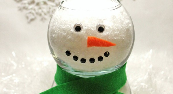 Glass Vase Snowman