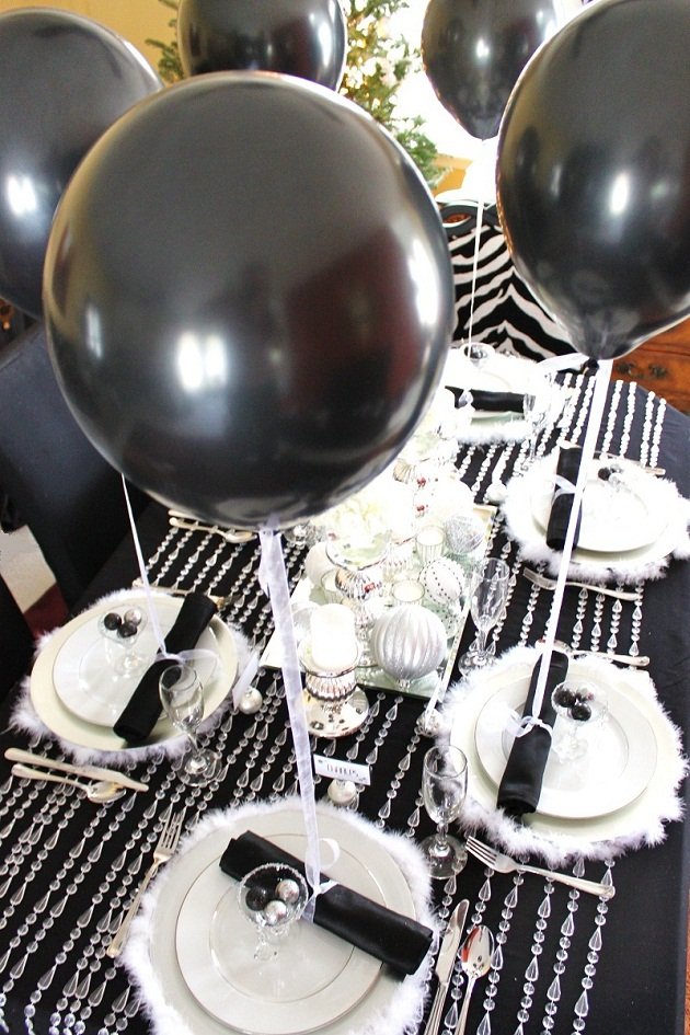 Black amp White Silver Holiday Table Celebrations At Home