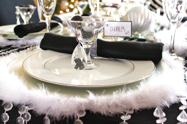 ... This black u0026 white u0026 silver holiday table will inspire any glamorous celebration including birthdays : silver table setting - Pezcame.Com