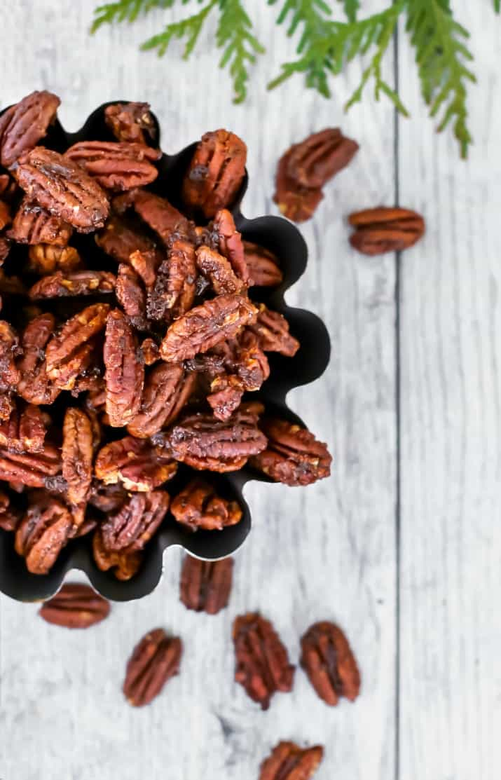 sweet & spicy pecans recipe for a party