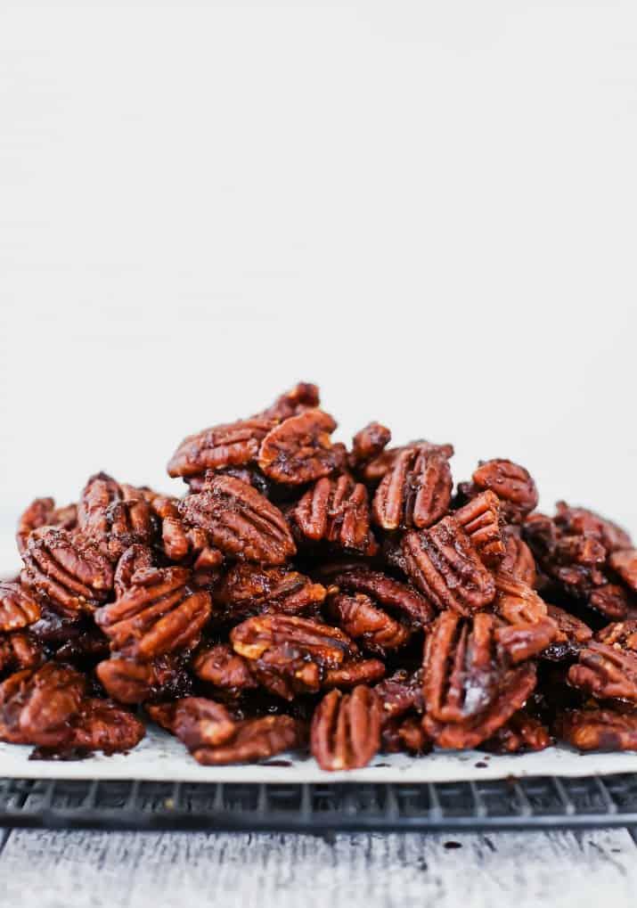 sweet & spicy pecans recipe