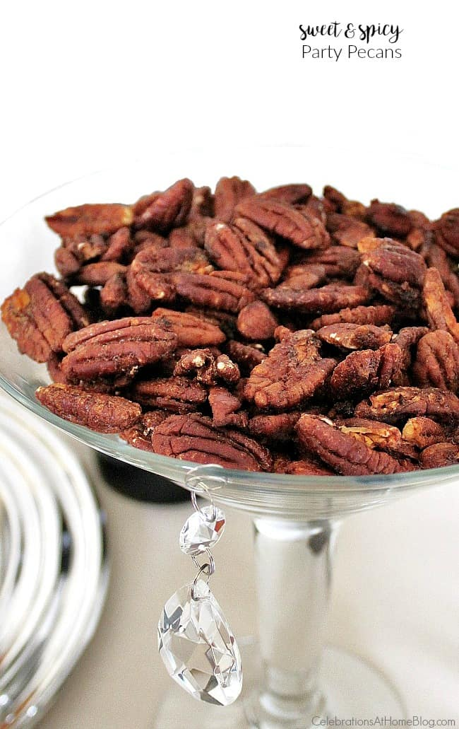 Make these sweet spicy pecans for holiday entertaining or any time you want to serve delicious nibbles.