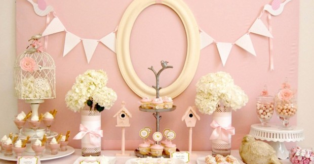 Pink Birdie Baby Shower {guest feature}