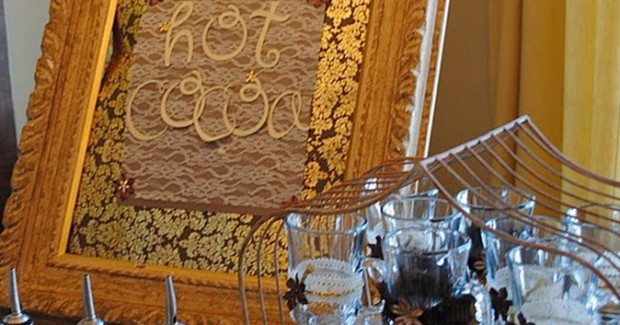 Rustic-Glam Hot Cocoa Bar