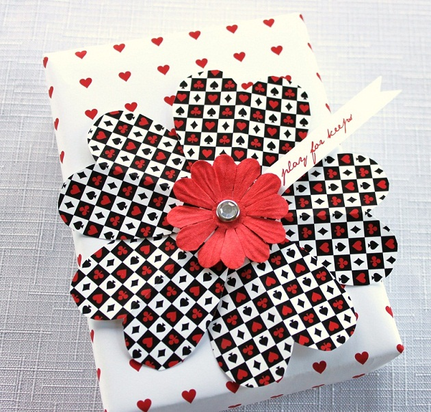 Paper flower for gift wrapping flowers healthy valentine s gift wrap paper flower diy celebrations at home mightylinksfo