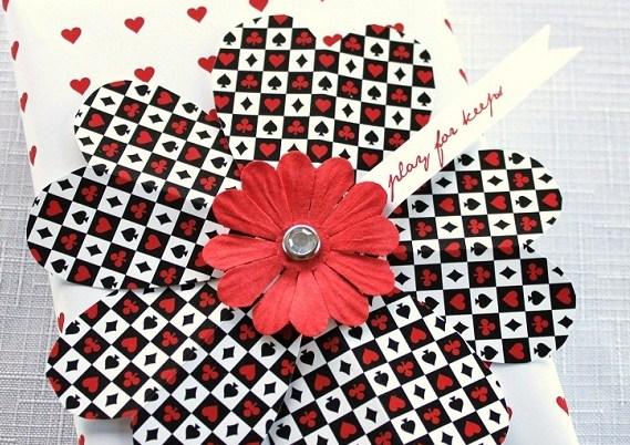 Valentine's Gift Wrap & Paper Flower DIY