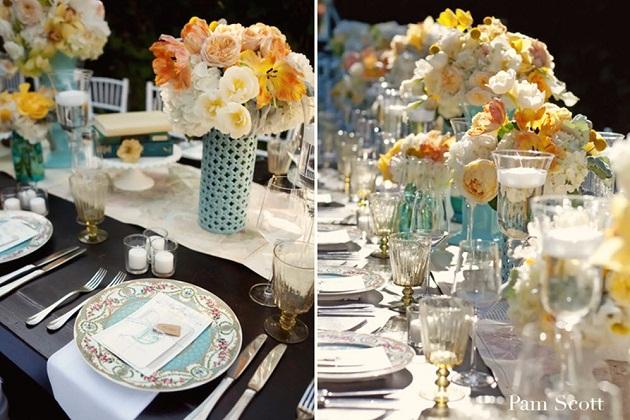 vintage chic garden wedding celebrations at home. Black Bedroom Furniture Sets. Home Design Ideas