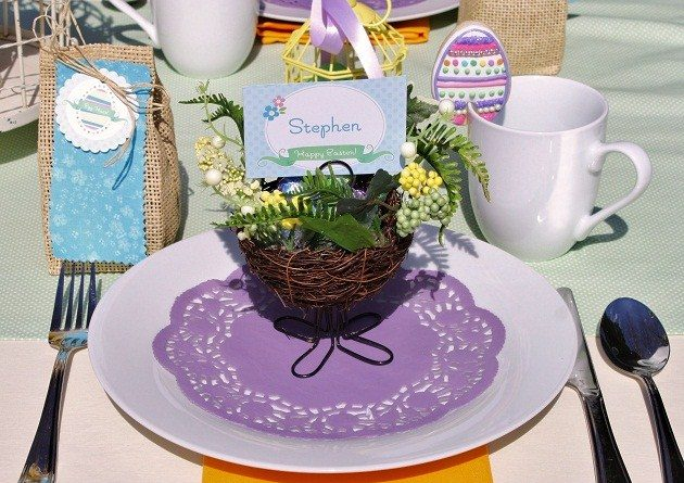 Easter Brunch & Egg Hunt – Table Setting