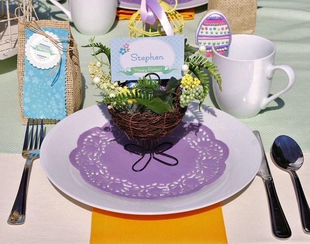 Easter Brunch amp Egg Hunt Table Setting Celebrations At