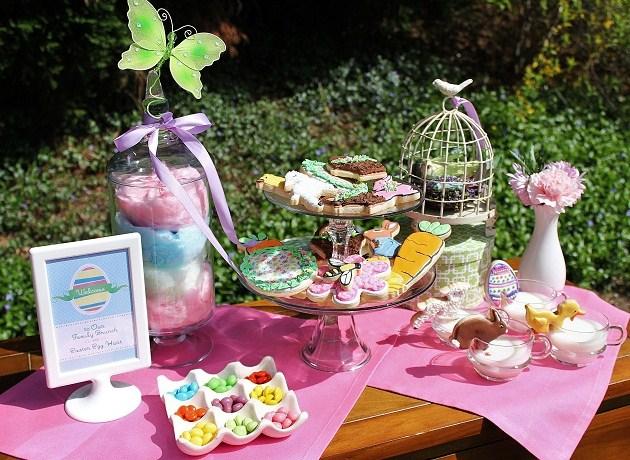 Easter Brunch Egg Hunt Dessert Kids Table Celebrations At Home