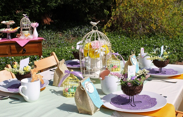 An Easter Brunch deserves a special table for the adults since the kids have all the fun with egg hunting and eating treats you can catch the sweets table ... & Easter Brunch u0026 Egg Hunt - Table Setting - Celebrations at Home