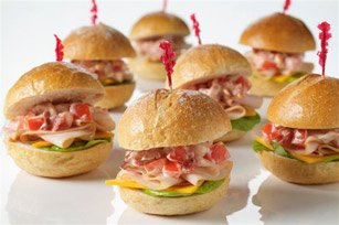 Mini Club Sandwiches — Celebrations at Home: celebrationsathomeblog.com/2009/04/mini-club-sandwiches.html