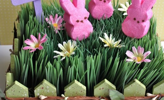 Easter Peeps Garden Centerpiece DIY